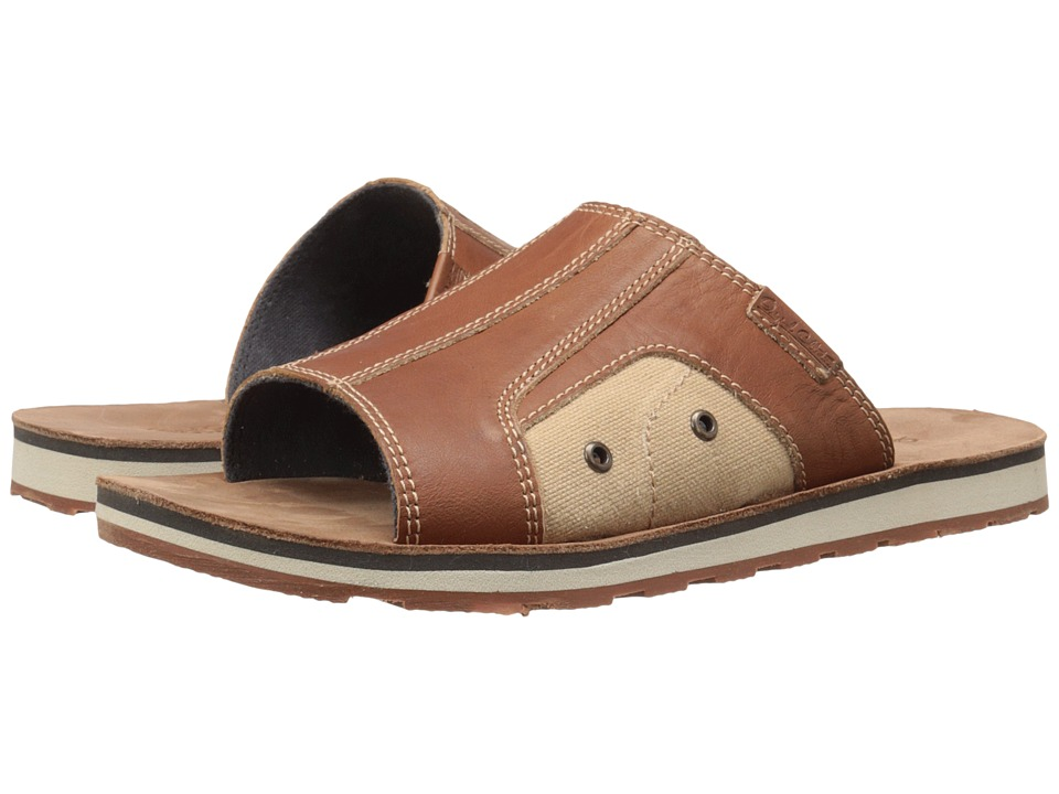 Dr. Scholl's - Bowers - Original Collection (Rust Leather) Men's Slide Shoes