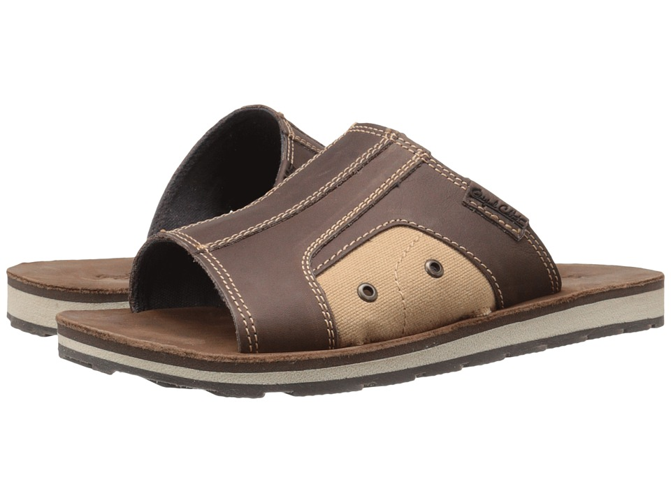 Dr. Scholl's - Bowers - Original Collection (Brown Derby Leather) Men's Slide Shoes