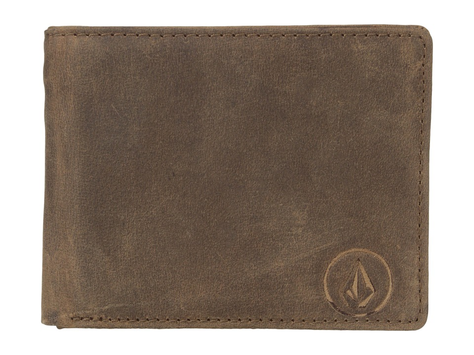 Volcom - Prime Leather Wallet (Brown) Wallet Handbags