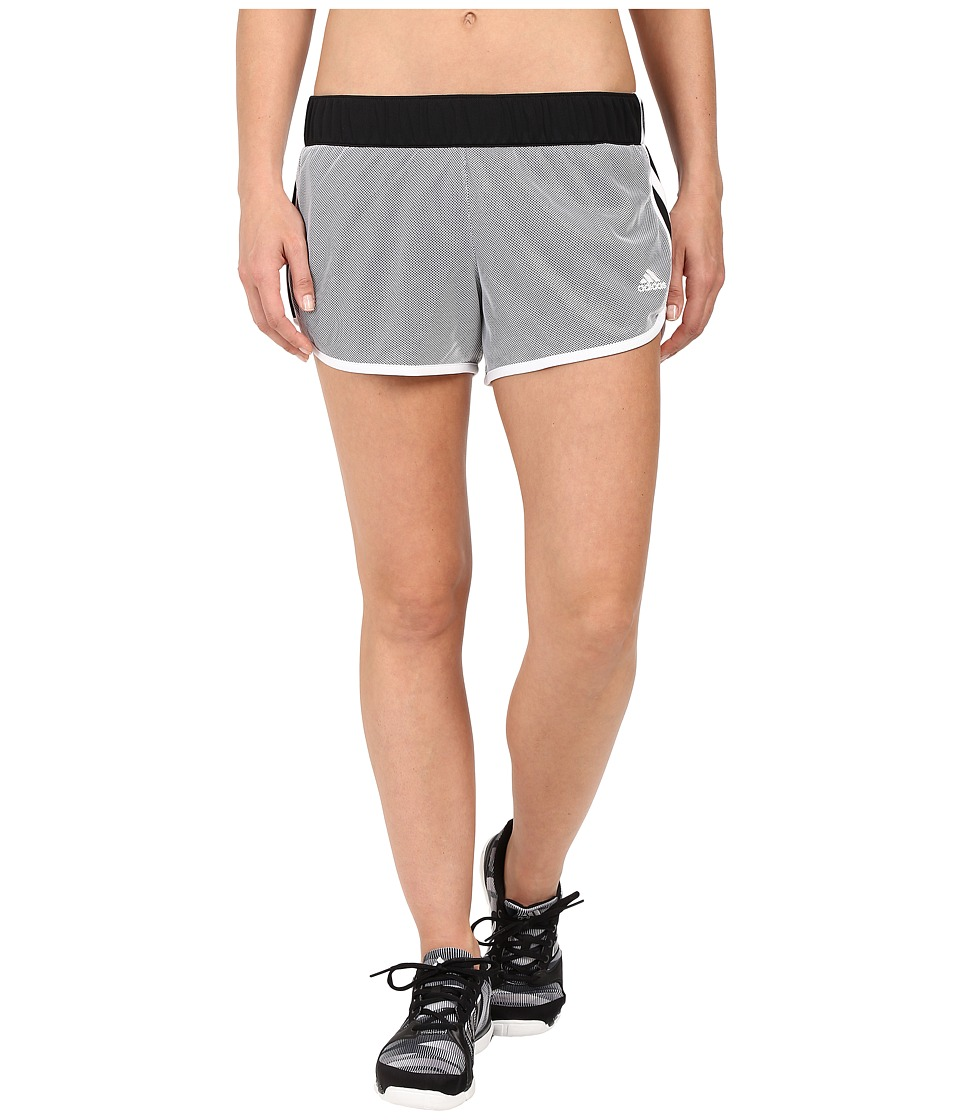 adidas - M10 Mesh Shorts (Black/White) Women's Shorts