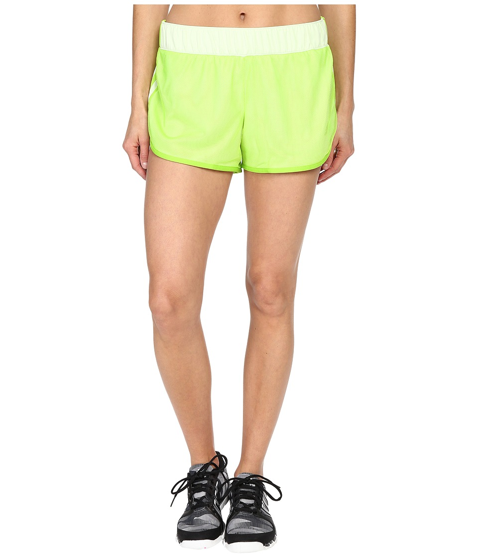 adidas - M10 Mesh Shorts (Halo/Semi Solar Slime) Women's Shorts