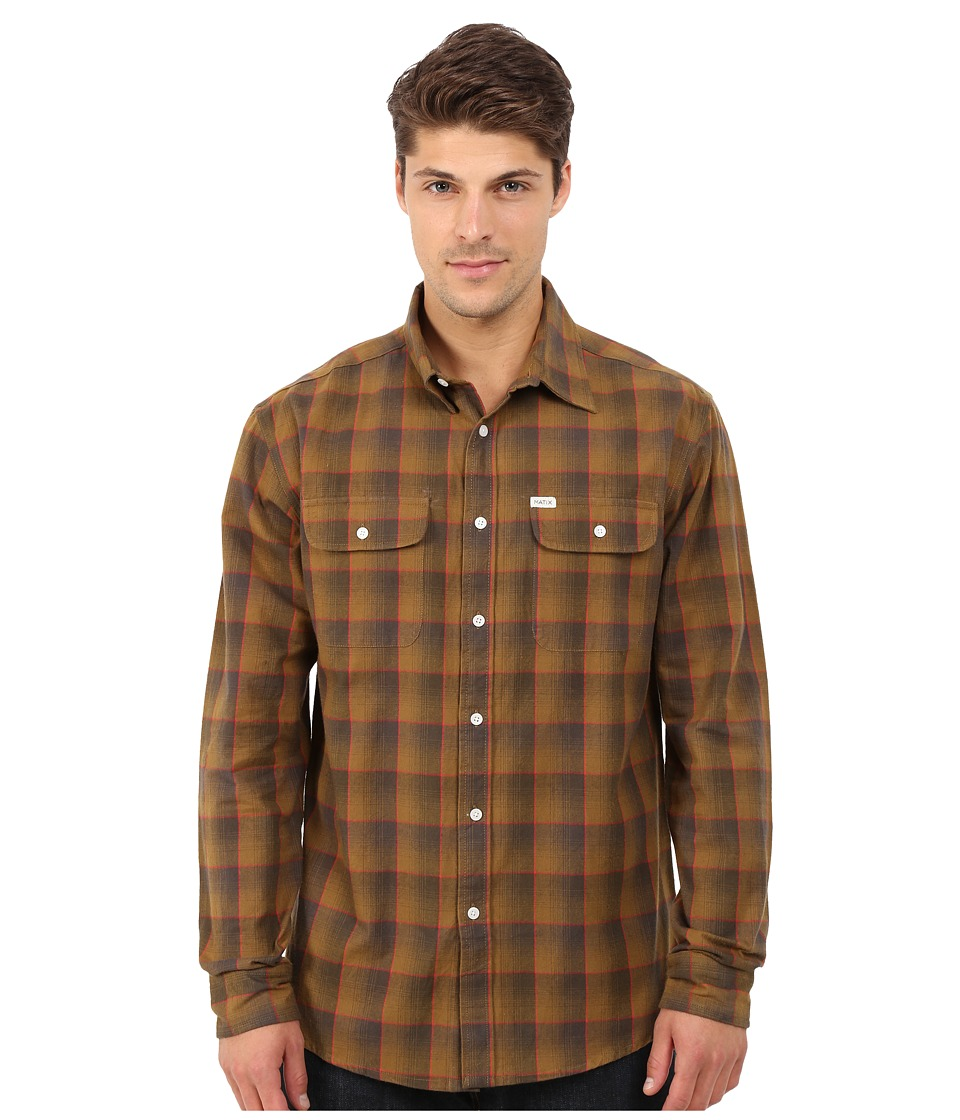 Matix Clothing Company - Wesson Flannel Shirt (Gold) Men's Long Sleeve Button Up