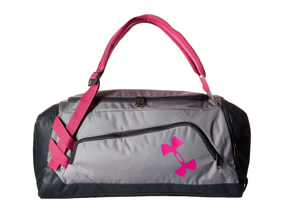 Under Armour - UA Contain Duo Backpack/Duffel (Youth) (Steel/Stealth Gray/Tropic Pink) Duffel Bags