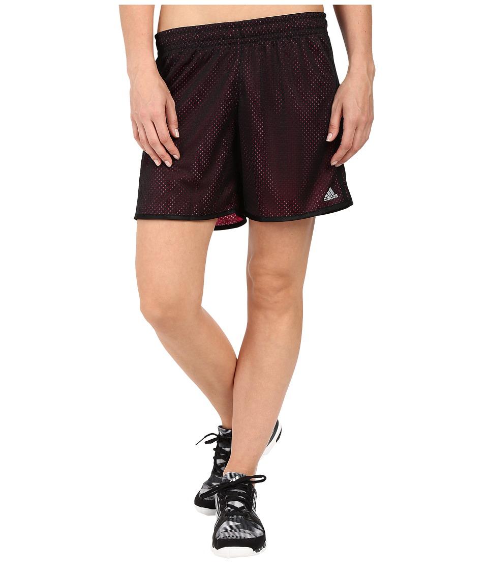 adidas - On Court Mesh Shorts (Black/Shock Pink) Women's Shorts