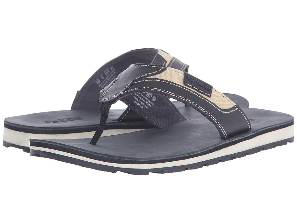 Dr. Scholl's - BROOKS - Original Collection (Black Leather) Men's Sandals
