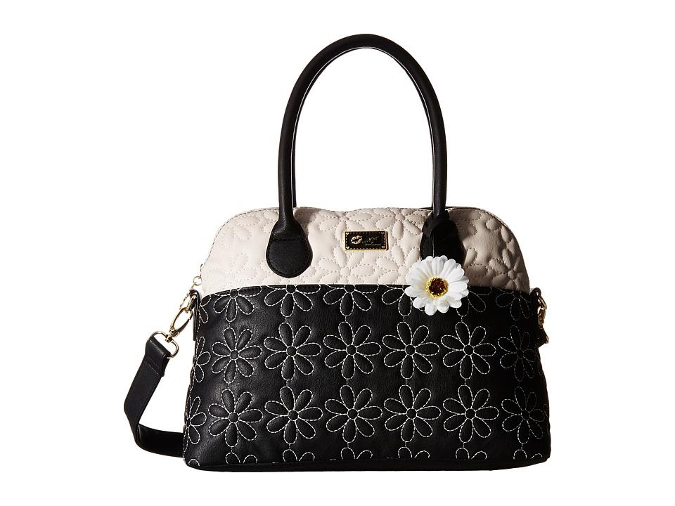 Luv Betsey - June Satchel (Black/White) Satchel Handbags