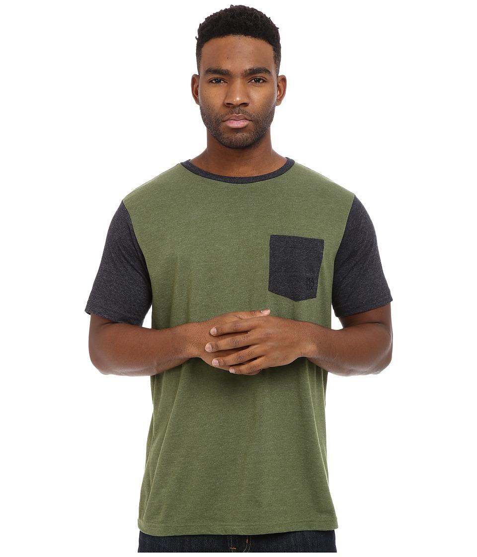 Matix Clothing Company - Standard Clash T-Shirt (Army) Men's T Shirt