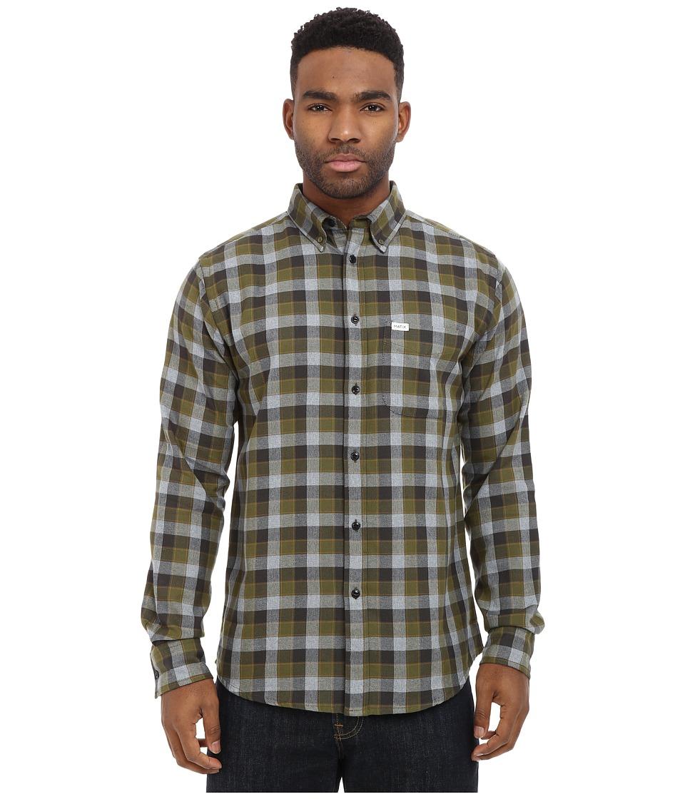 Matix Clothing Company - Robinson Woven Top (Khaki) Men's Long Sleeve Button Up