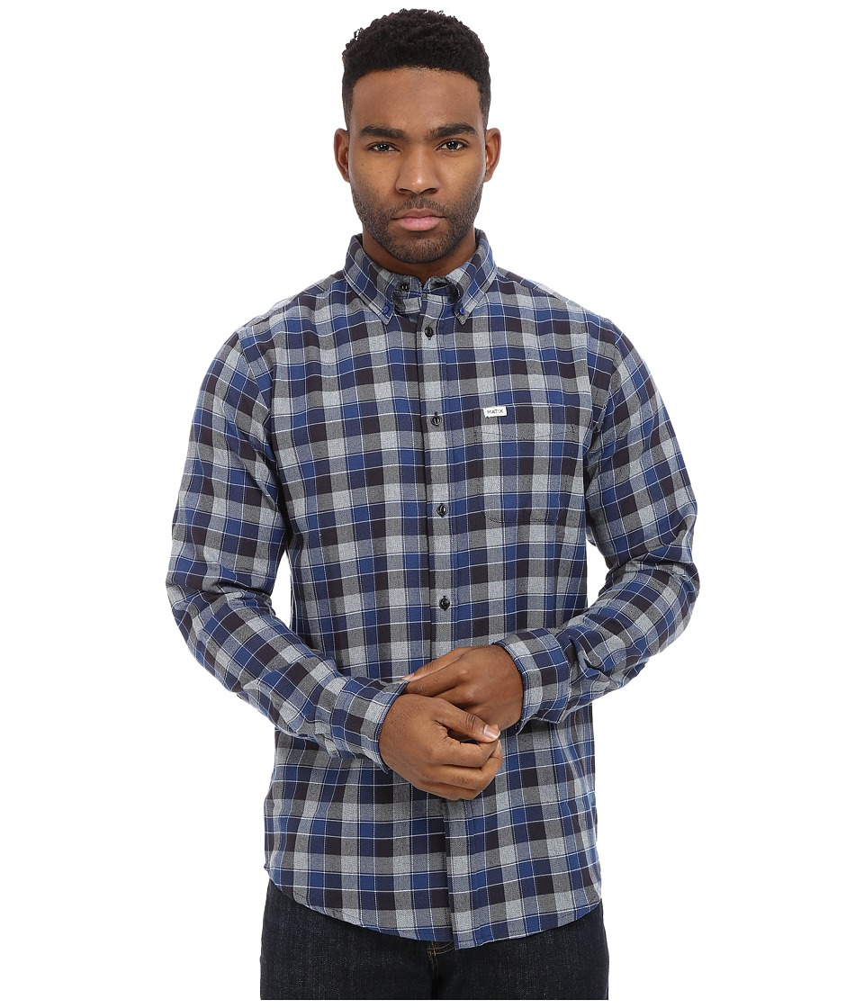 Matix Clothing Company - Robinson Woven Top (Blue) Men's Long Sleeve Button Up