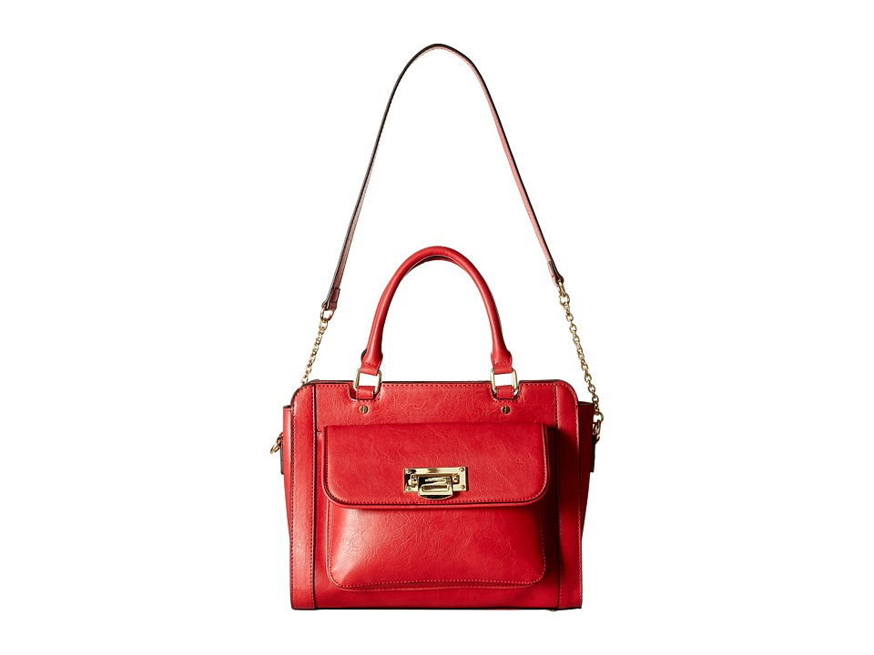 London Fog - Sheffield Satchel (Scarlet) Satchel Handbags