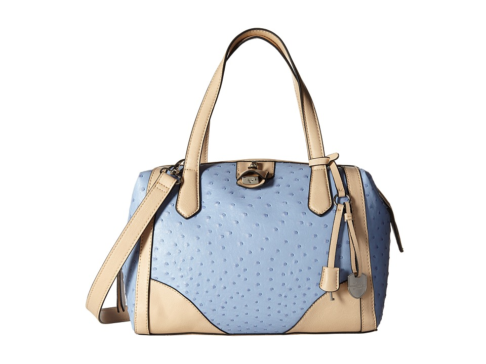 London Fog - Skyler Frame Satchel (Breeze Ostrich) Satchel Handbags
