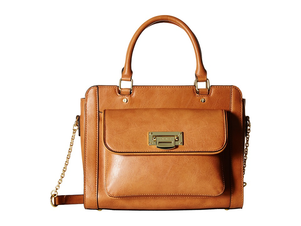 London Fog - Sheffield Satchel (Cognac) Satchel Handbags