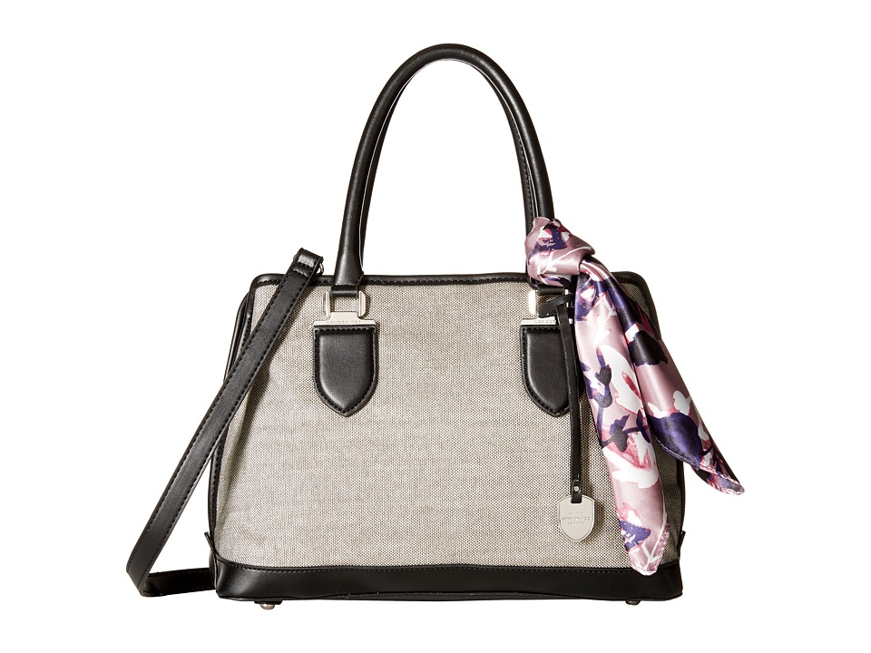 London Fog - Carlisle Dome Satchel (Silver/Black) Satchel Handbags