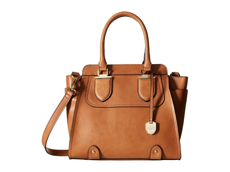 London Fog - Kensington North/South Satchel (Cognac) Satchel Handbags