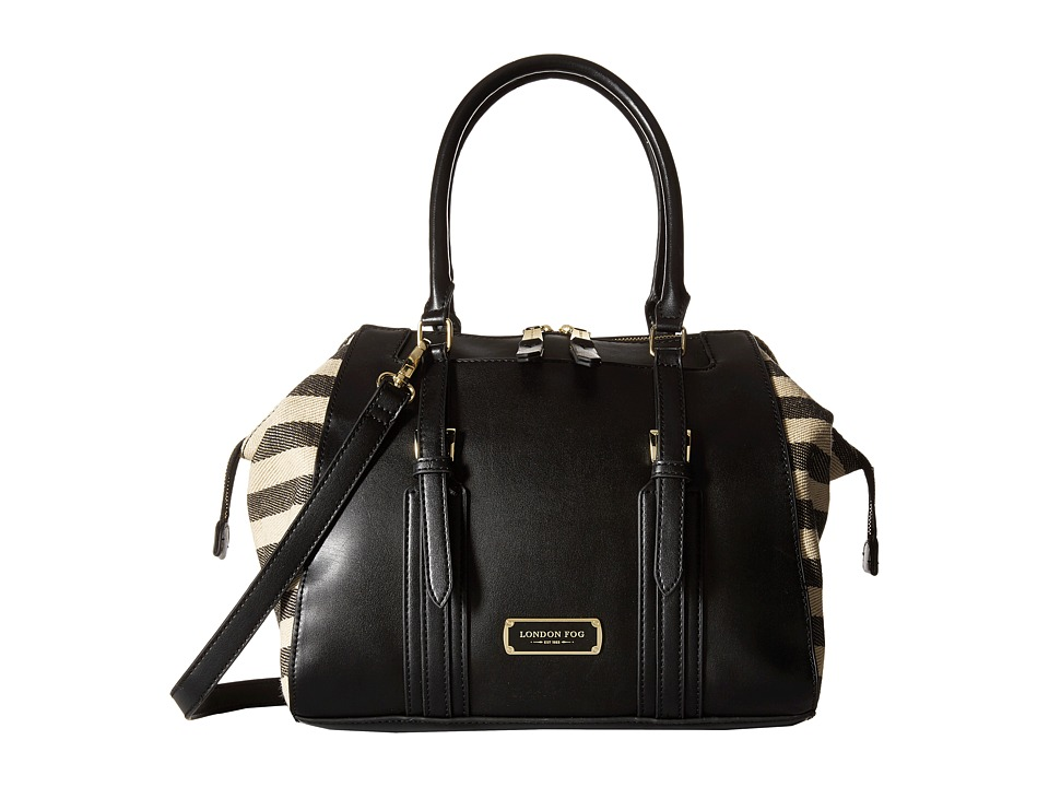London Fog - Shay Satchel (Black) Satchel Handbags