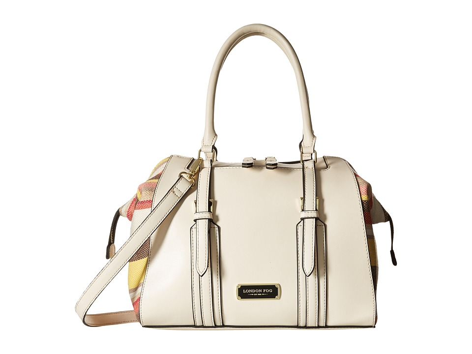 London Fog - Shay Satchel (Ivory) Satchel Handbags