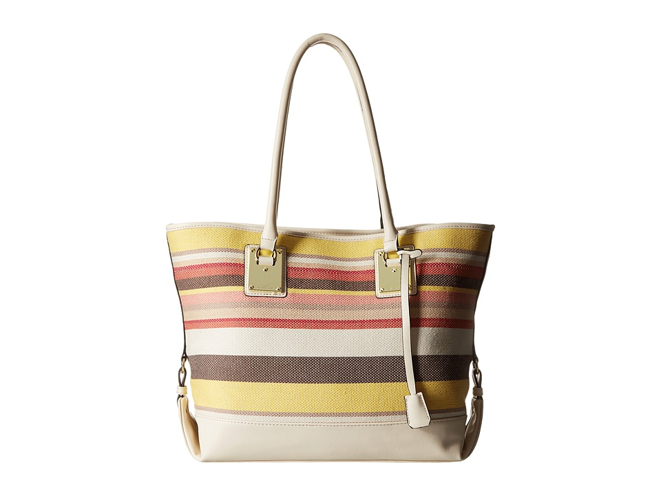 London Fog - Manchester Tote (Pink/Multi Stripe) Tote Handbags