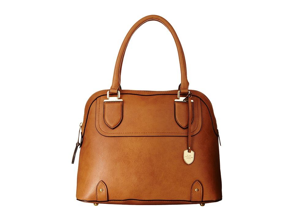 London Fog - Kensington Dome (Cognac) Satchel Handbags