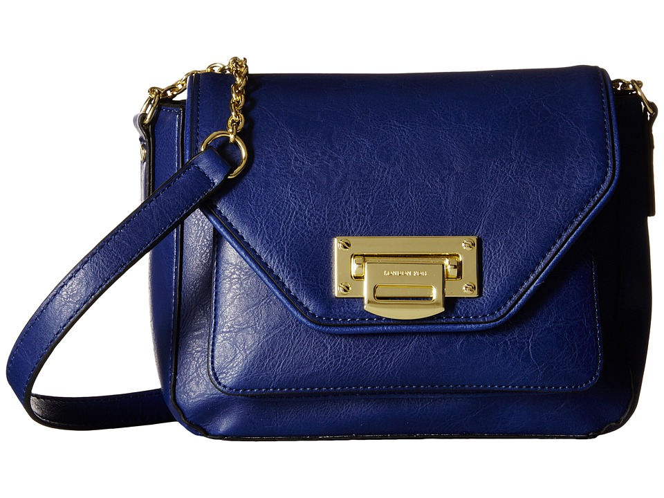 London Fog - Sheffield Shoulder Flap (Indigo) Shoulder Handbags