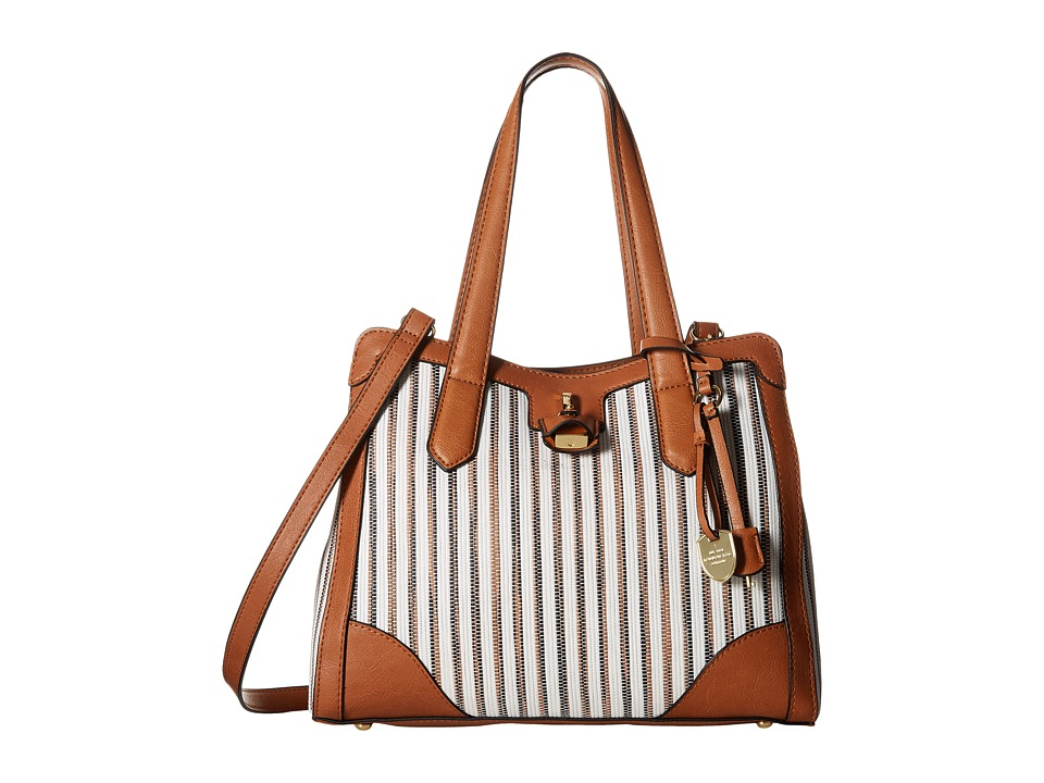 London Fog - Skyler Four-Poster (White Woven Multi) Shoulder Handbags
