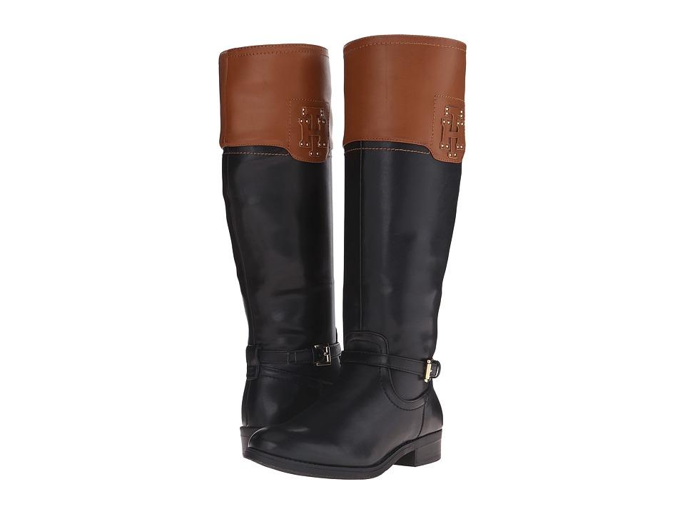 Tommy Hilfiger - Drea 2 (Black/Tan/Olympic Stars PU) Women's Pull-on Boots