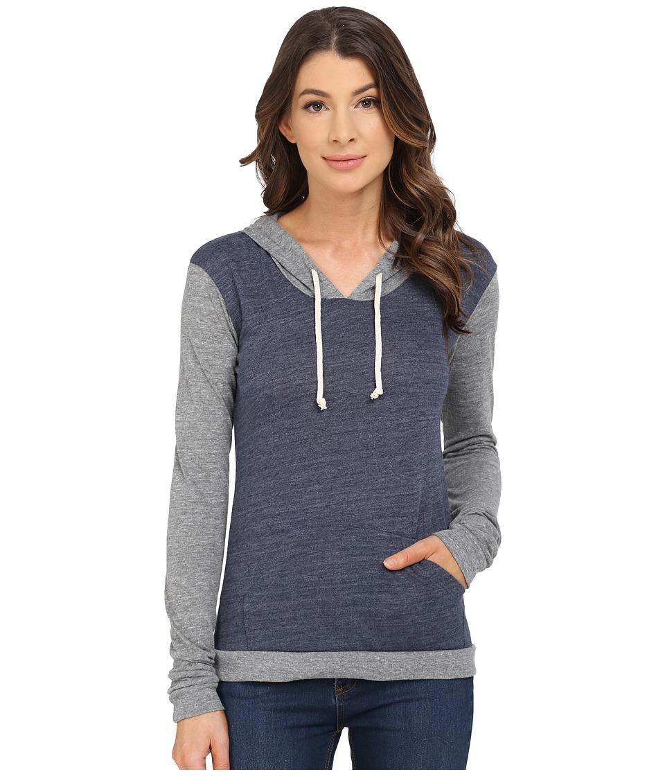 Alternative - Eco Jersey Classic Pullover Hoodie (Eco True Navy/Eco Grey) Women's Sweatshirt