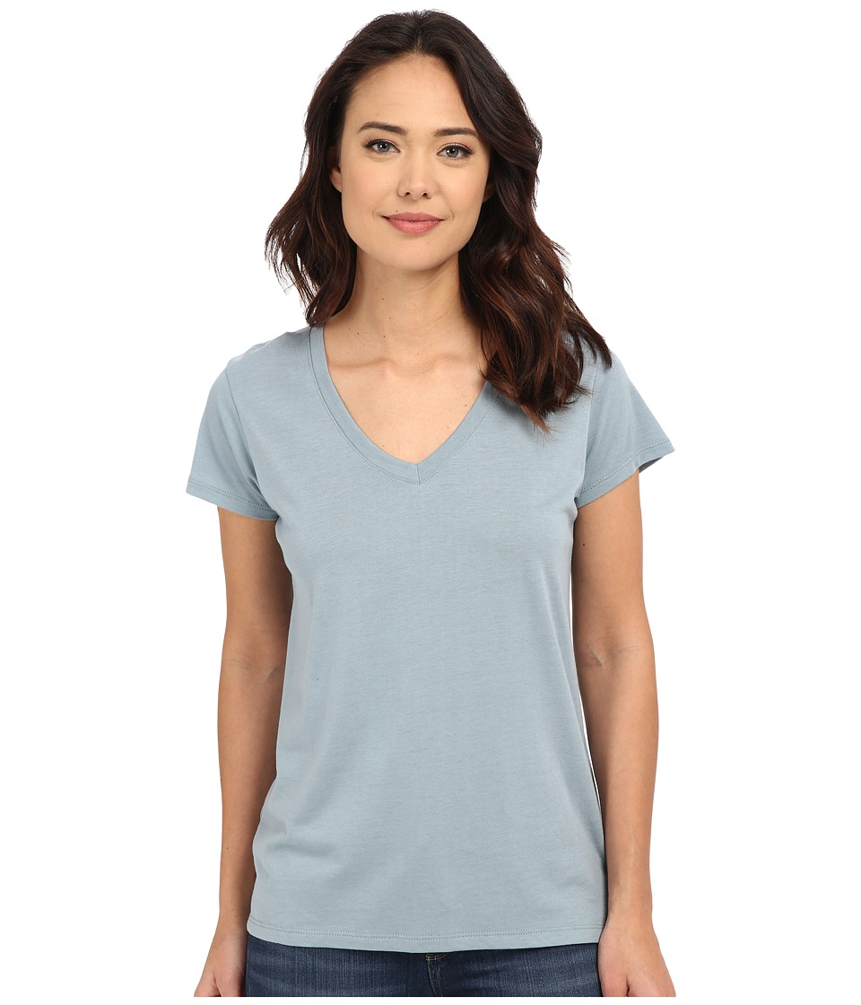 Alternative - Cotton Modal Everyday V-Neck (Blue Fog) Women's Clothing