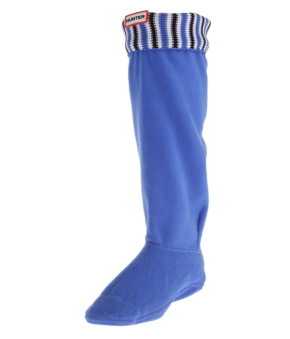 Hunter - Original Tall Deck Chair Stripe Boot Sock Nylon (Adventure Blue/Black/White) Crew Cut Socks Shoes