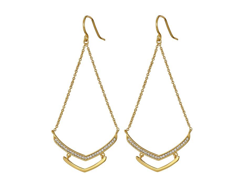 gorjana - Cress Shimmer Drop Earrings (Gold) Earring