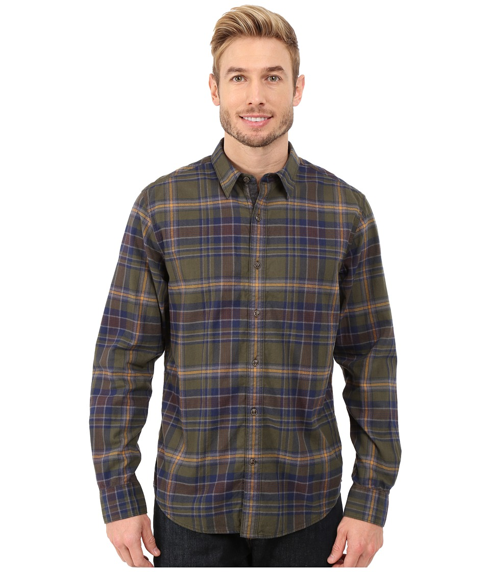 Timberland - Long Sleeve Parker River Flannel Plaid (Forest Night) Men's Long Sleeve Button Up