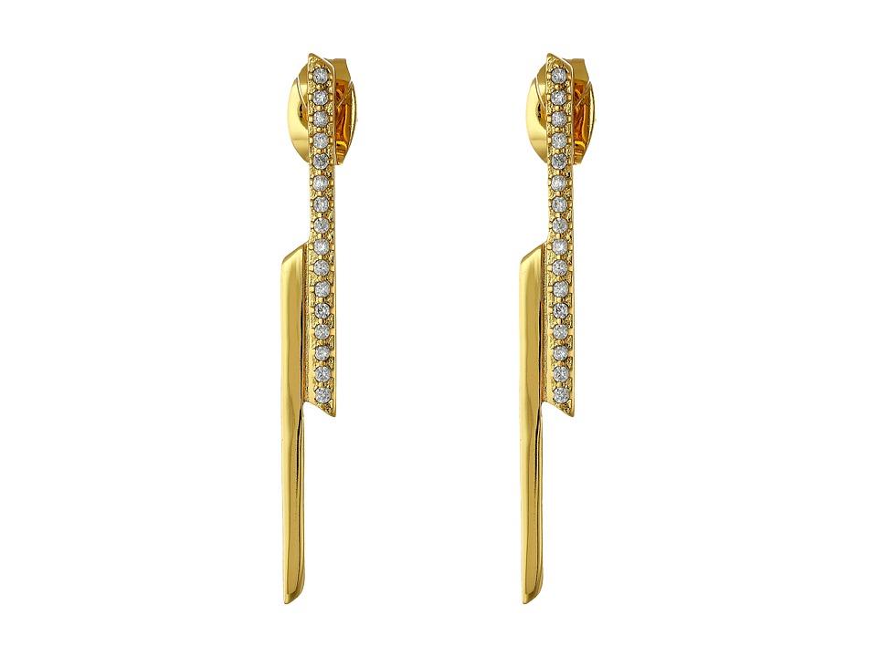 gorjana - Petra Shimmer Drop Studs (Gold) Earring