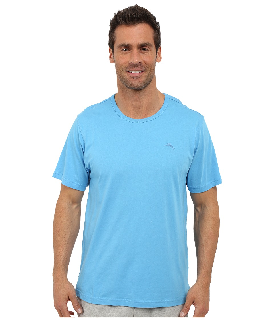 Tommy Bahama - Basic Short Sleeve T-Shirt (Baby Blue) Men's Short Sleeve Pullover