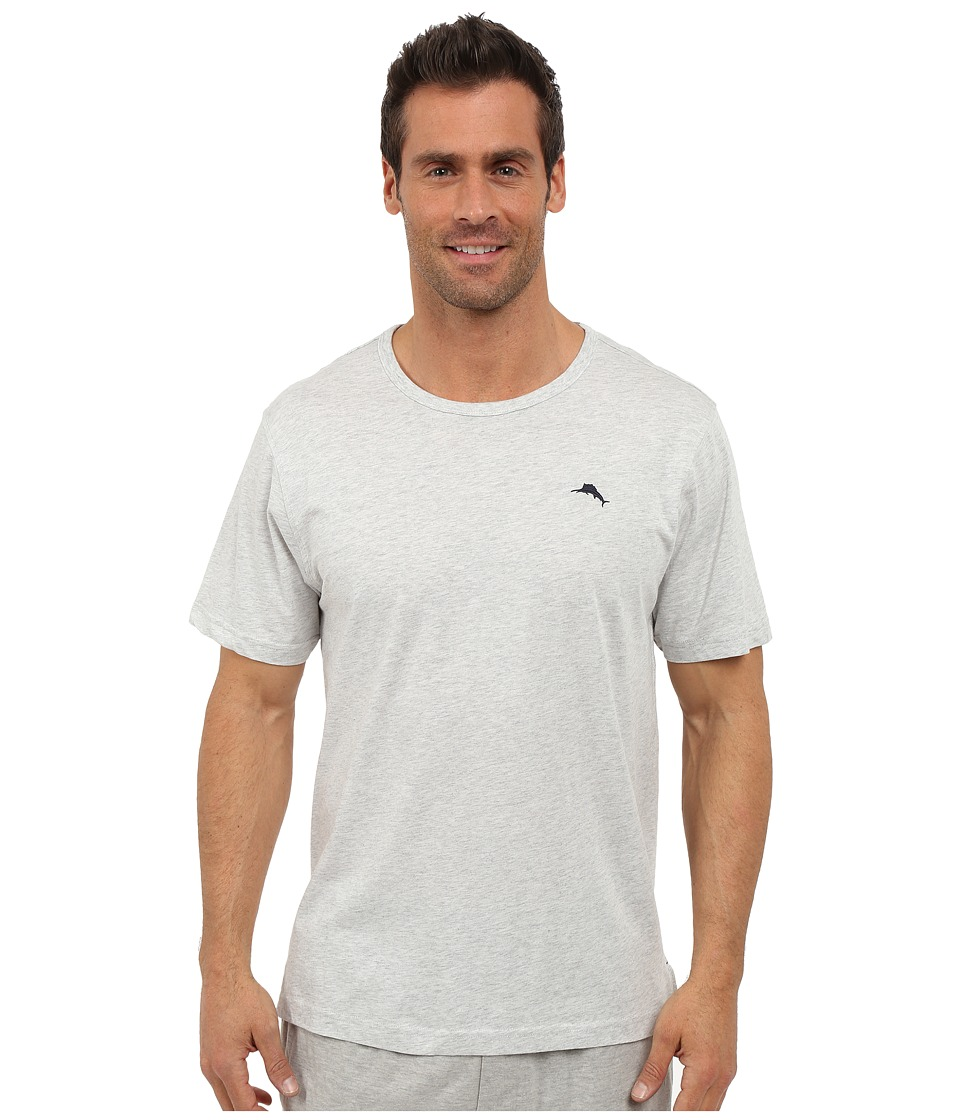 Tommy Bahama - Basic Short Sleeve T-Shirt (Heather Gray) Men's Short Sleeve Pullover