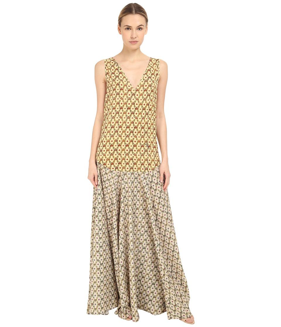 Just Cavalli - Printed Maxi Dress (Light Variant) Women's Dress