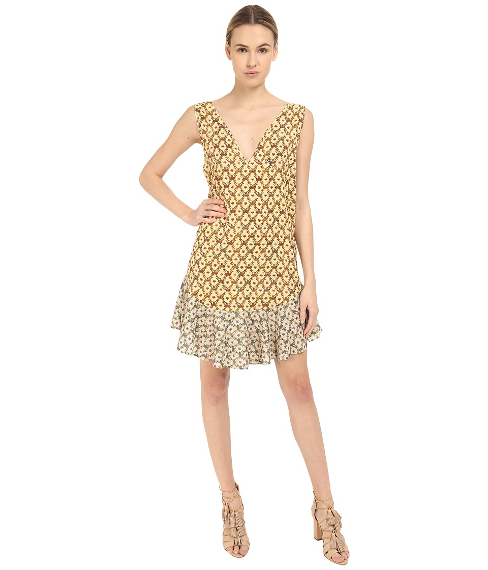 Just Cavalli Printed V-Neck Sleeveless Dress