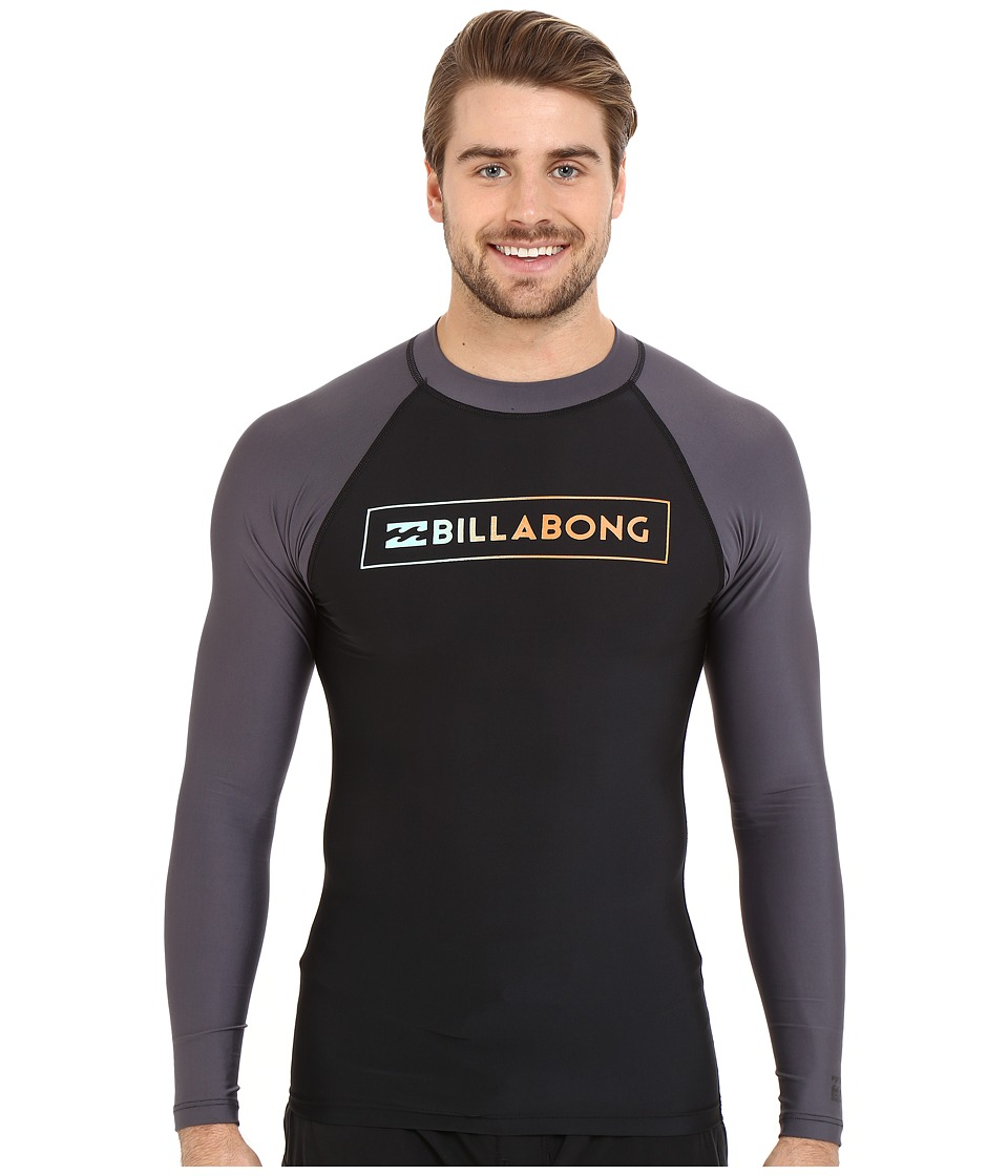 Billabong - All Day Raglan Long Sleeve Rashguard (Black) Men's Swimwear