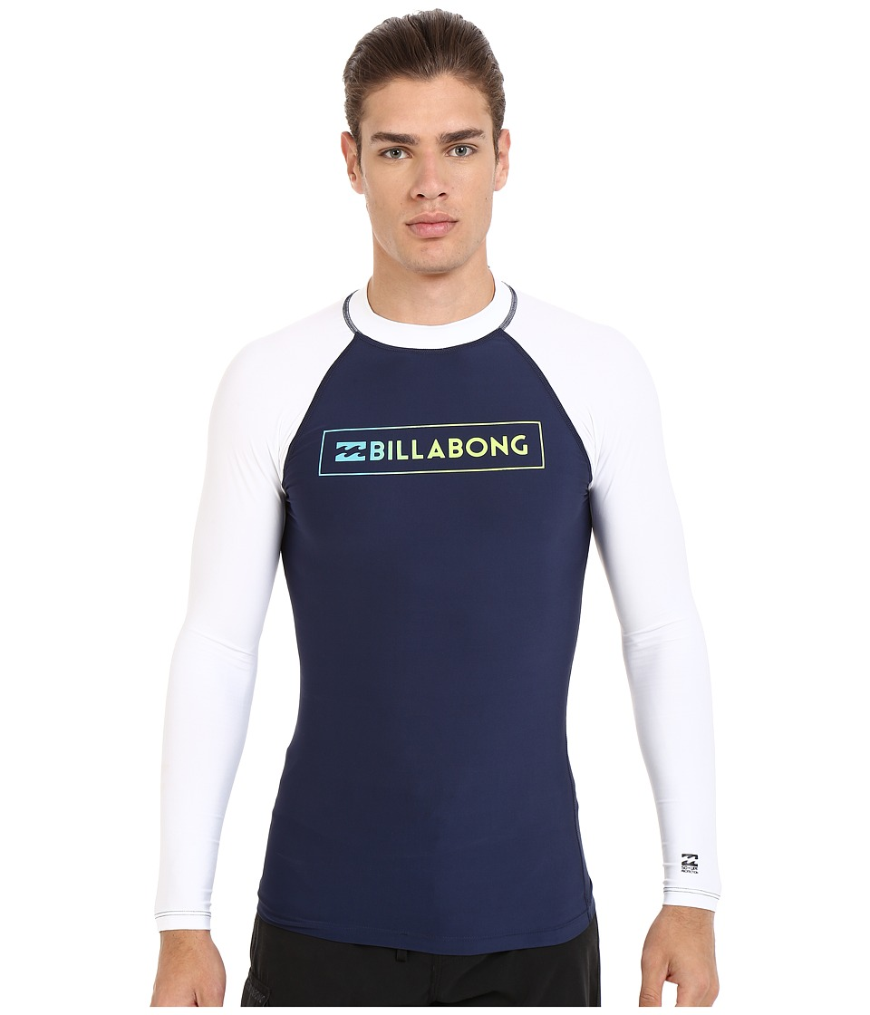 Billabong - All Day Raglan Long Sleeve Rashguard (Navy) Men's Swimwear