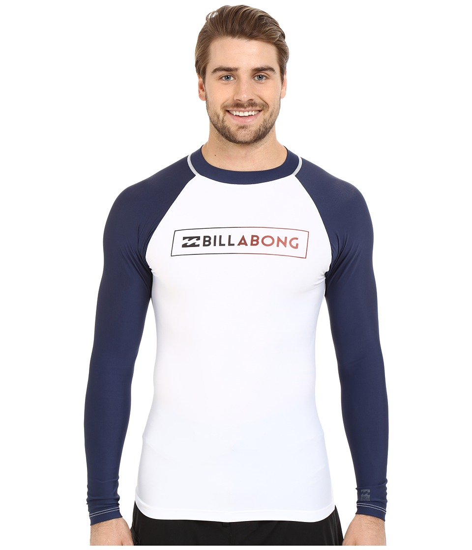 Billabong - All Day Raglan Long Sleeve Rashguard (White) Men's Swimwear