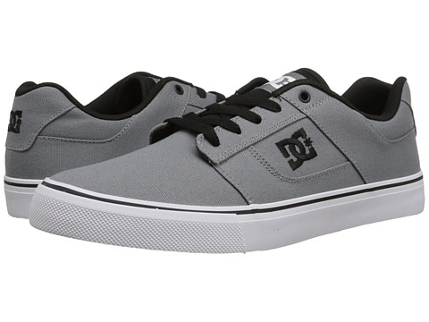 DC - Bridge TX (Grey/White) Men's Skate Shoes