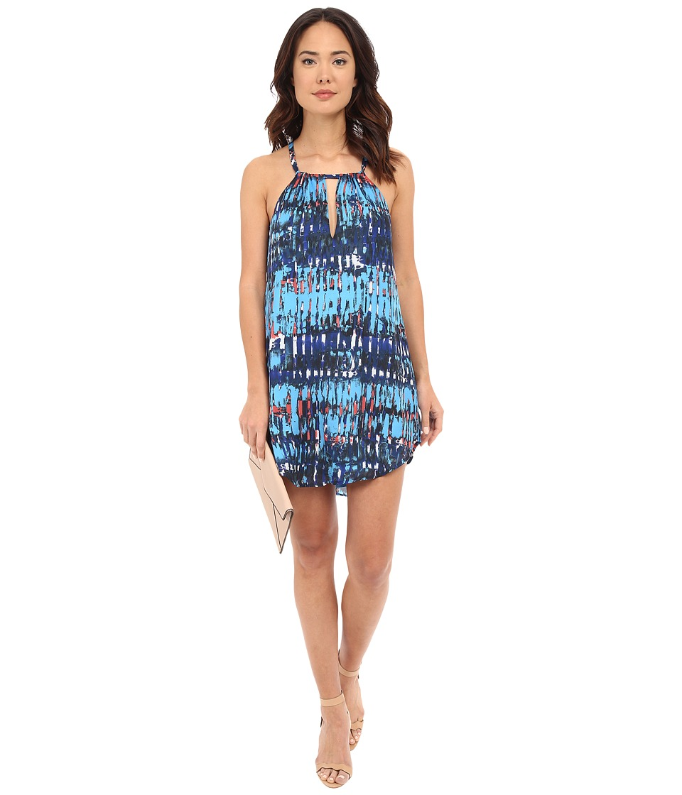 BB Dakota - Celeste Refractions Printed Reverse Crepon Dress (Multi) Women's Dress