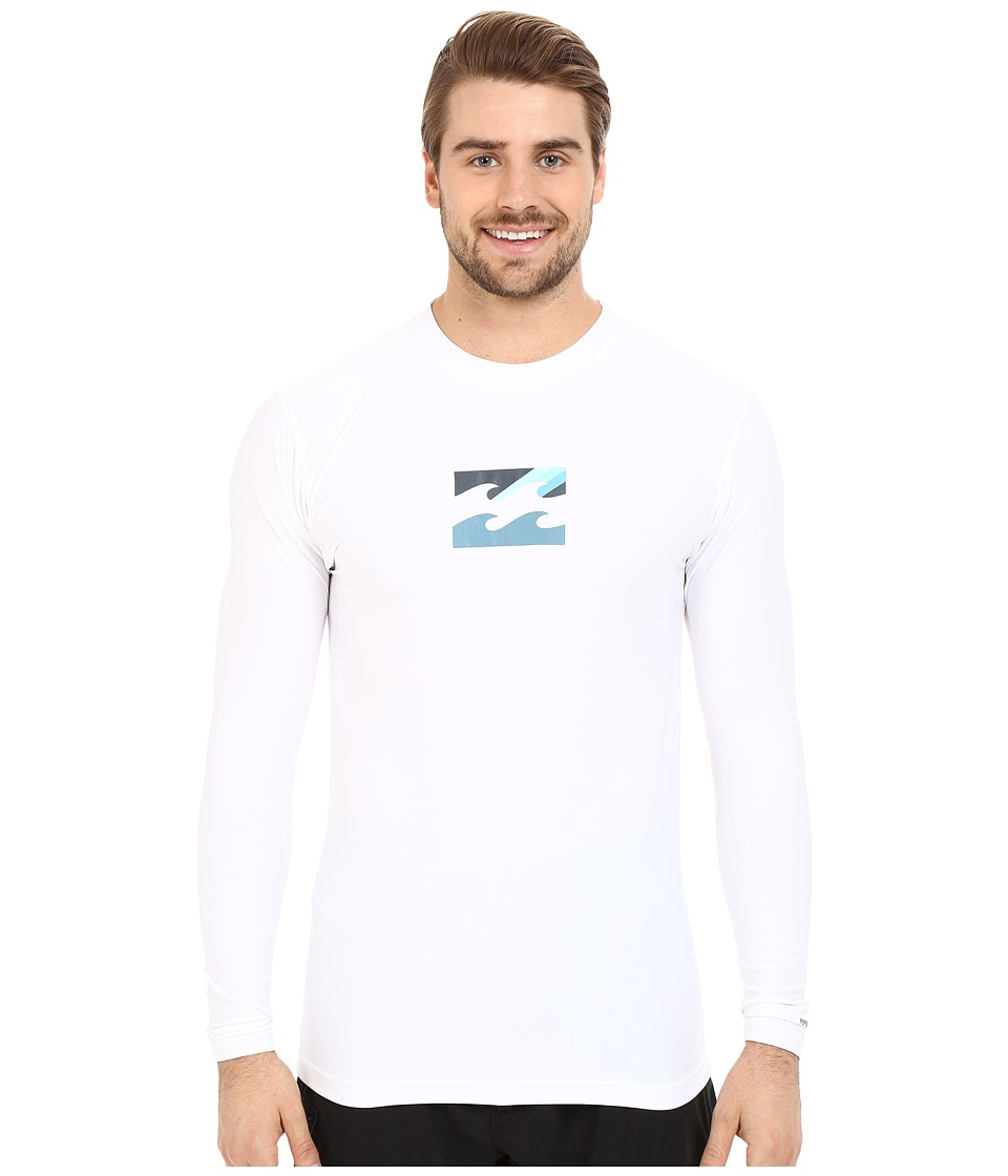 Billabong - Chronicle Long Sleeve Rashguard (White) Men's Swimwear