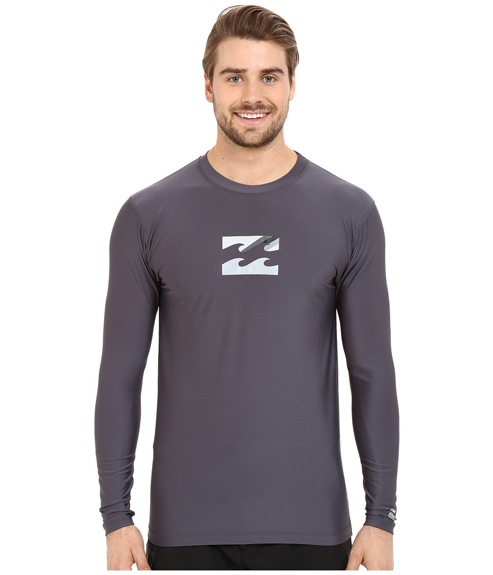 Billabong - Chronicle Long Sleeve Rashguard (Charcoal) Men's Swimwear