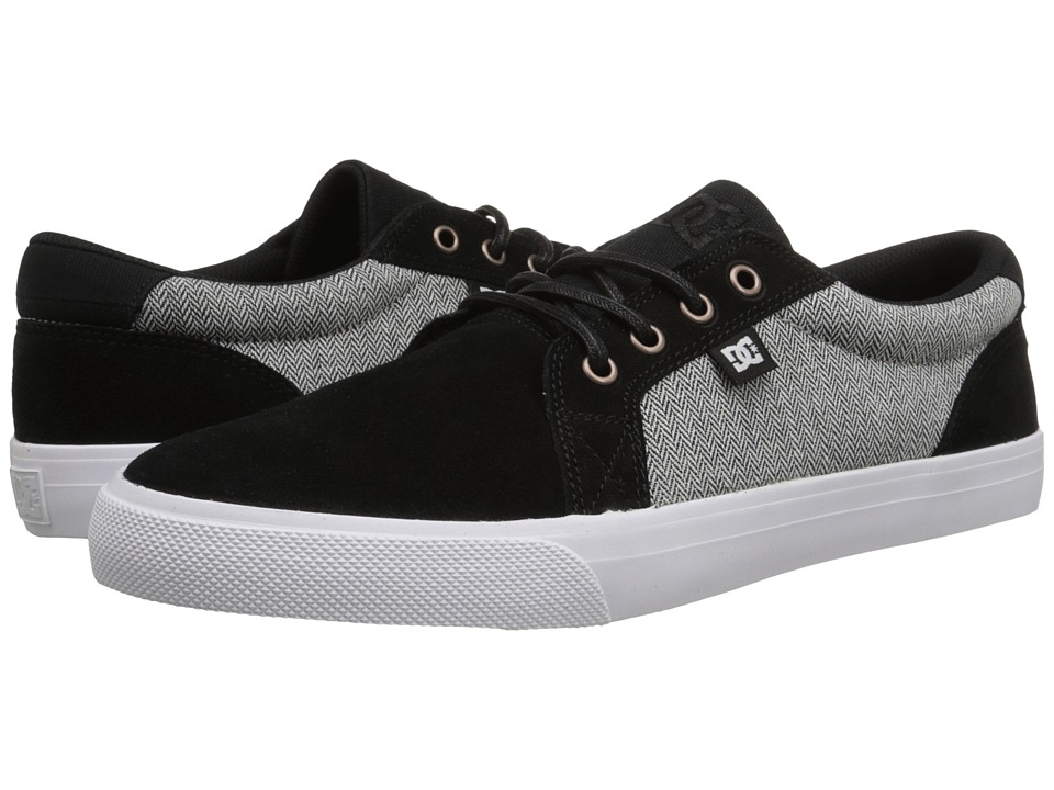 DC - Council SE (Black/White/Grey) Men's Skate Shoes