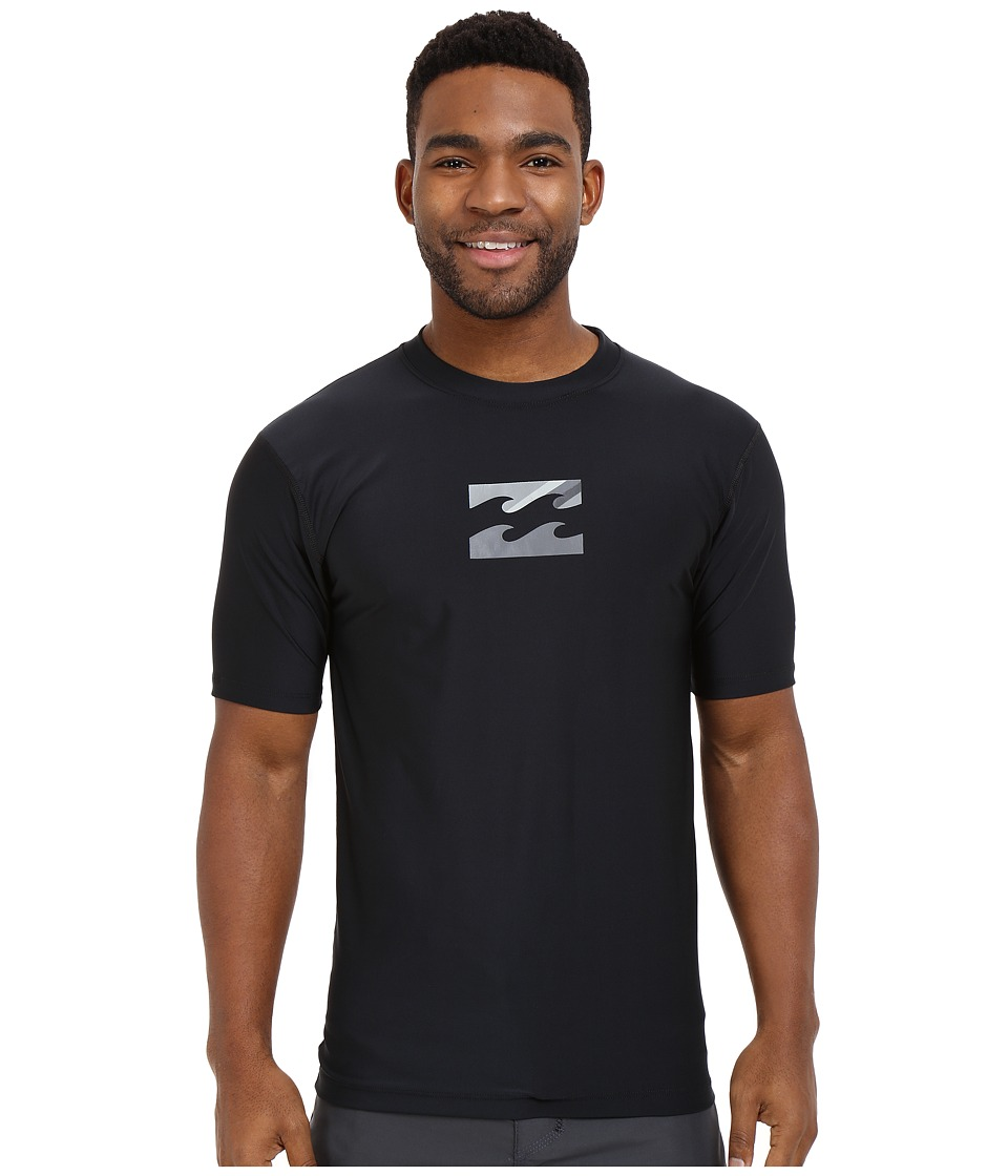 Billabong - Chronicle Short Sleeve Rashguard (Black) Men's Swimwear