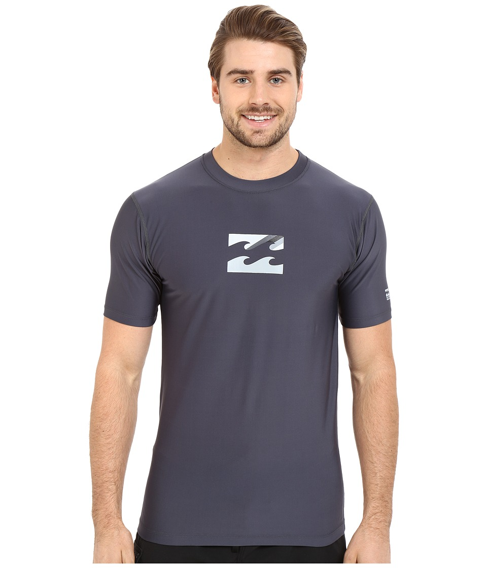 Billabong - Chronicle Short Sleeve Rashguard (Charcoal) Men's Swimwear