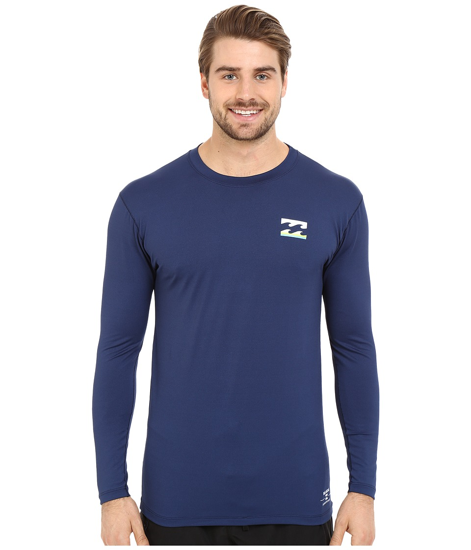 Billabong - Submersible Long Sleeve Rashguard (Navy) Men's Swimwear