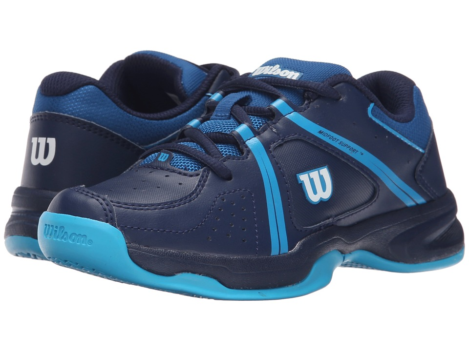 Wilson Kids - Nvision Envy Junior (Little Kid/Big Kid) (Navy/Scuba Blue) Kids Shoes