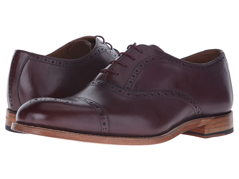 Grenson - Matthew (Burgundy Calf) Men's Lace Up Cap Toe Shoes