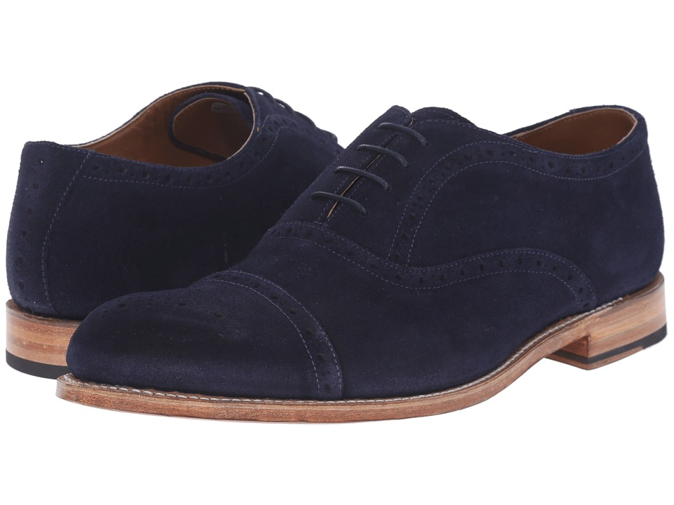 Grenson - Matthew (Navy Suede) Men's Lace Up Cap Toe Shoes