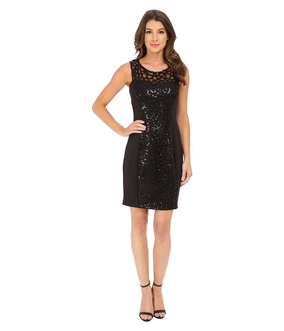 Jessica Simpson - Embellished Cut Out Sequin Dress (Black) Women's Dress